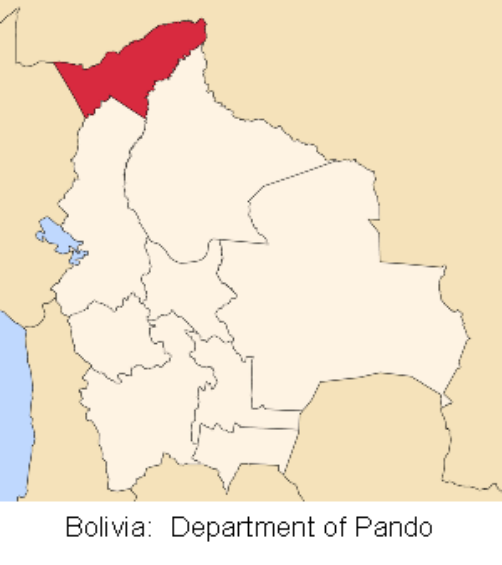 map bolivia pando