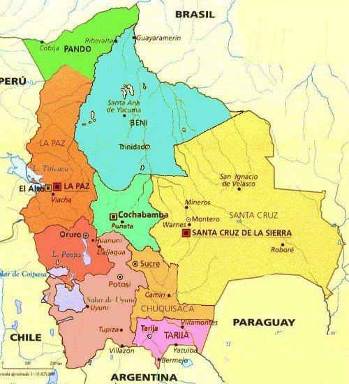 Bolivia maps: Major cities in Bolivia