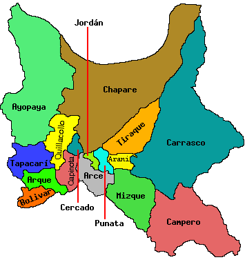 the department (state) of cochabamba bolivia