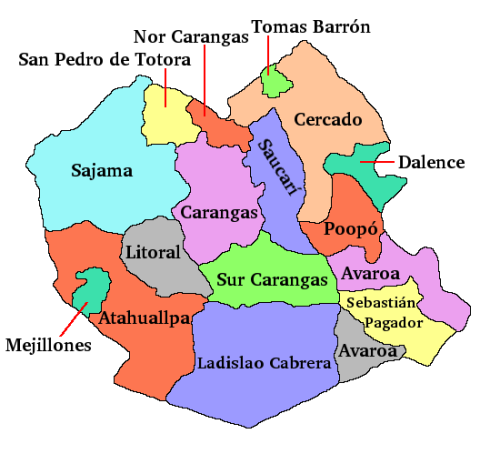 the department (state) of oruro bolivia