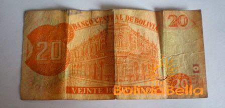 Bolivianos 20 - back side