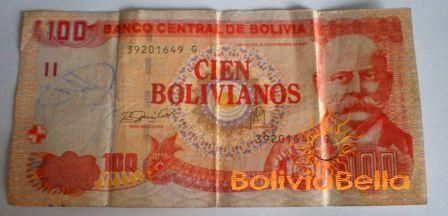 Bolivianos 100 - front side