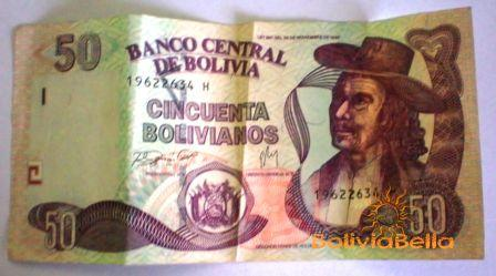 Bolivianos 50 Front Side