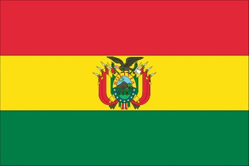 Bolivia's national flag