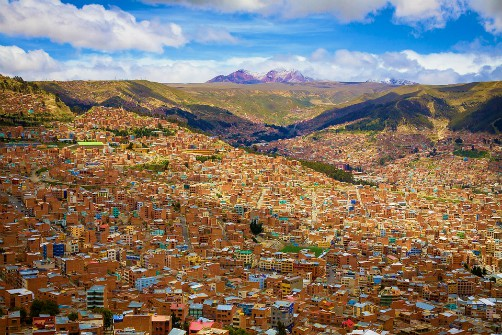 Major cities of Bolivia - La Paz, Cochabamba, Santa Cruz, Tarija, Sucre, Potosi, El Alto, Oruro