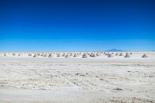 Salar de Uyuni Bolivia Salt Mounds
