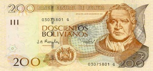 Bolivian Currency and Money