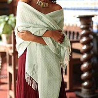 Peruvian alpaca shawl