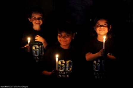Earth Hour in Tarija, Bolivia