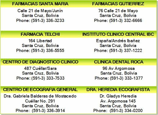 laboratories pharmacies santa cruz bolivia