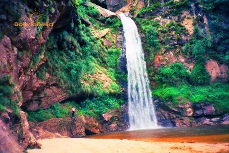 Pajcha Waterfall near Samaipata Bolivia