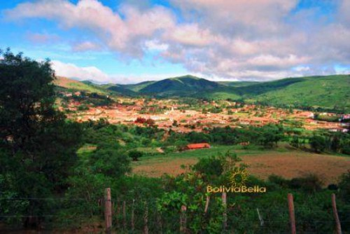 Panoramic View of the Town of Samaipata Bolivia