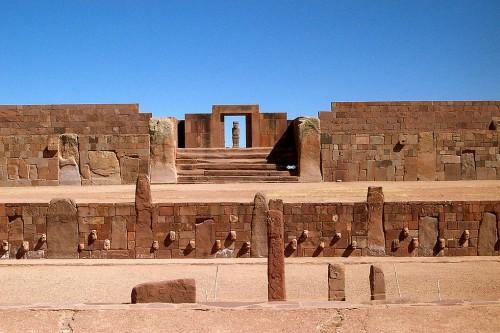 Kalasasaya Temple at Tiwanaku (Tiahuanaco) Bolivia