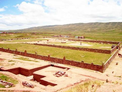 Sunken Temple Tiwanaku Tiahuanaco Bolivia