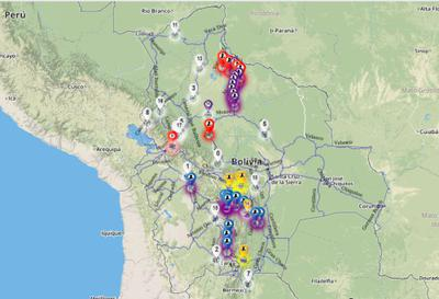 Tourism in Bolivia Interactive Map Shows Road Blocks and Closures