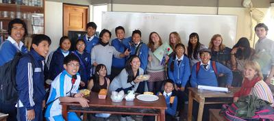 Our last day with our English class